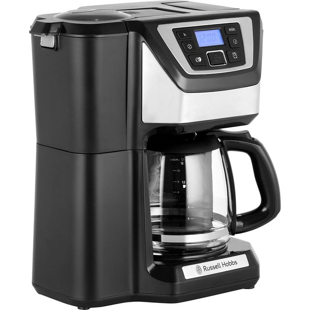 Russell Hobbs Chester Grind & Brew 22000 Filter Coffee Machine with Timer - Silver / Black - 22000_SI - 1