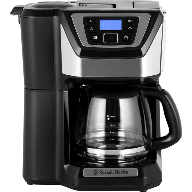 Russell Hobbs Chester Grind & Brew 22000 Filter Coffee Machine with Timer - Silver / Black