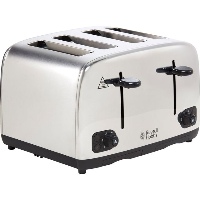 Russell Hobbs Adventure 24090 4 Slice Toaster - Stainless Steel - 24090_SS - 1