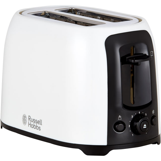 Russell Hobbs My Breakfast 25210 2 Slice Toaster - White / Black - 25210_WHBK - 1