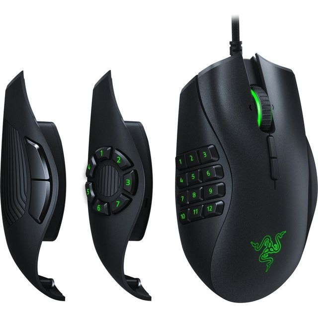 Razer Naga Trinity Wired USB Optical Mouse - Black - RZ01-02410100-R3M1 - 1