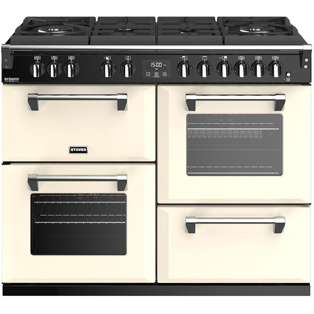 Stoves Richmond Deluxe S1000GTG 100cm Dual Fuel Range Cooker - Cream - A/A/A Rated