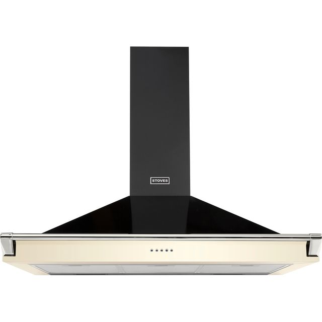 Stoves S1000 RICH CHIM RAIL 100 cm Chimney Cooker Hood - Cream - A Rated - S1000 RICH CHIM RAIL_CR - 1