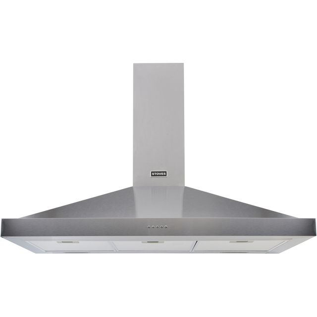 Stoves S1000 STER CHIM 100 cm Chimney Cooker Hood - Stainless Steel - A Rated - S1000 STER CHIM_SS - 1