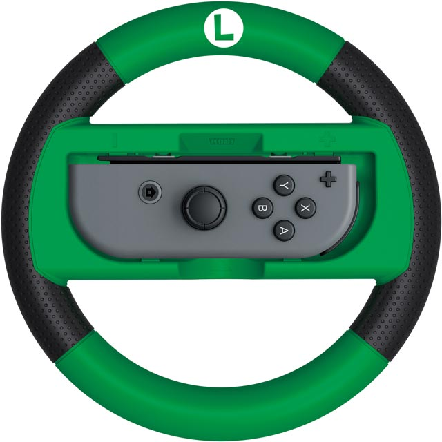 Hori Mario Kart 8 Deluxe Racing Wheel (Luigi) for Nintendo Switch - Green / Black - S10173858 - 1