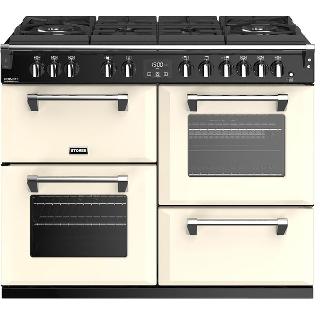 Stoves Richmond Deluxe S1100GTG 110cm Dual Fuel Range Cooker - Cream - A/A/A Rated - Richmond Deluxe S1100GTG_CR - 1