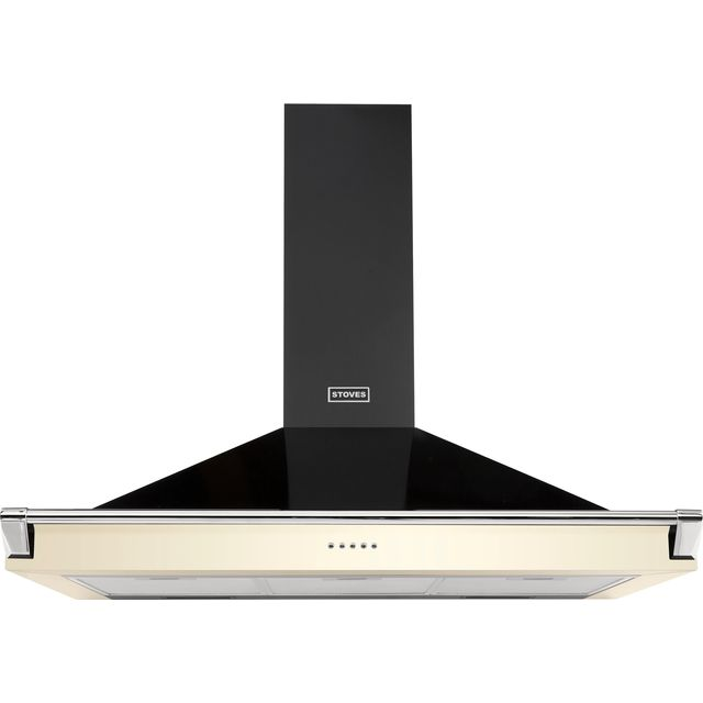 Stoves S1100 RICH CHIM RAIL 110 cm Chimney Cooker Hood - Cream - A Rated - S1100 RICH CHIM RAIL_CR - 1
