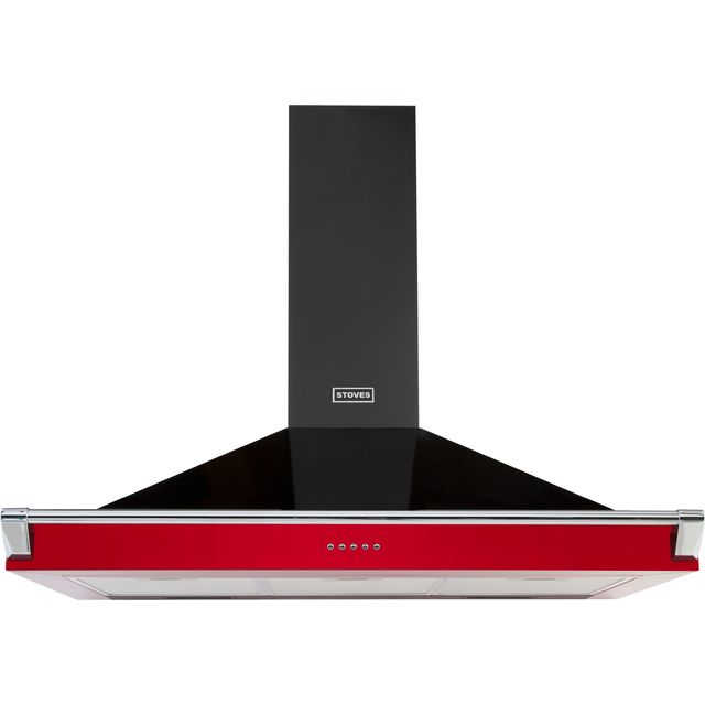 Stoves S1100 RICH CHIM RAIL 110 cm Chimney Cooker Hood - Hot Jalapeno - A Rated - S1100 RICH CHIM RAIL_HJA - 1