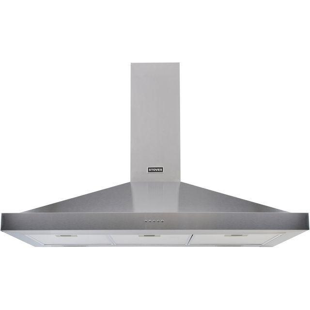 Stoves S1100 STER CHIM 110 cm Chimney Cooker Hood - Stainless Steel - A Rated - S1100 STER CHIM_SS - 1