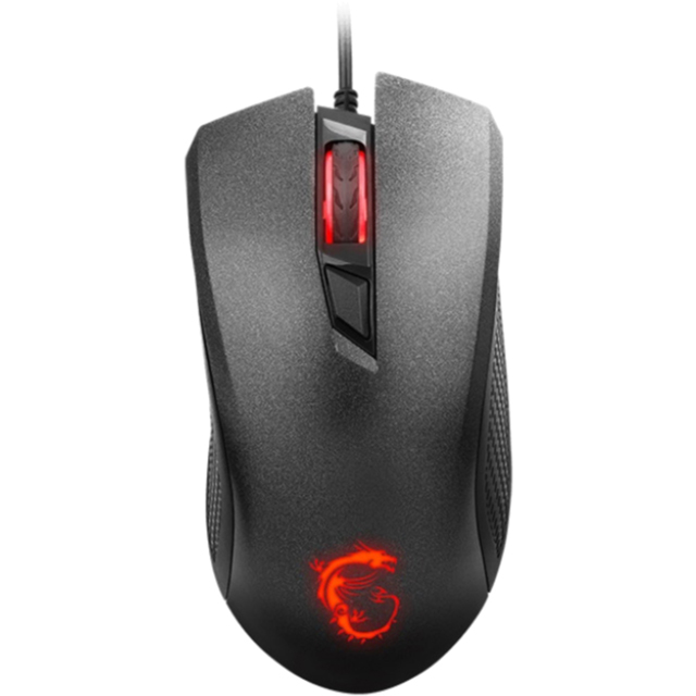 MSI Clutch GM10 Wired USB Optical Mouse - Black - S12-0401640-AP1 - 1