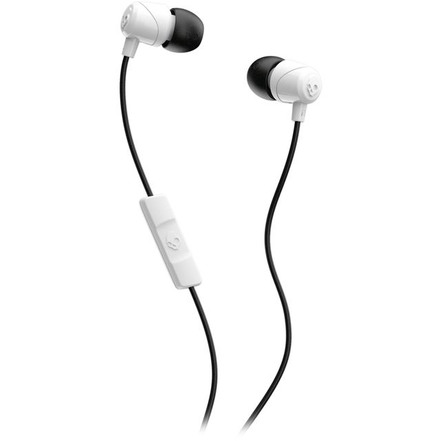 Skullcandy Jib Earbuds with Microphone In-Ear Headphones - White