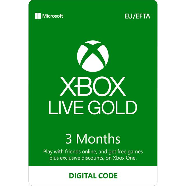 Xbox One 3 Month Xbox Live Gold Membership – Digital Code