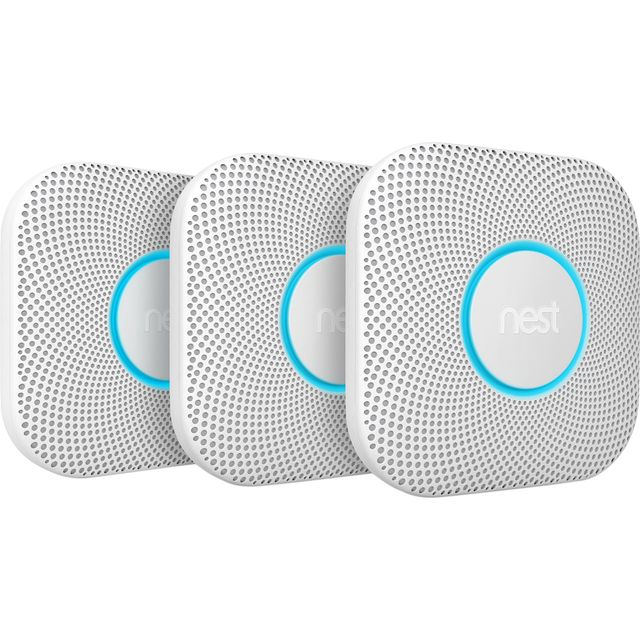 Nest Protect Smart Smoke and CO Alarm - Triple Pack - Battery