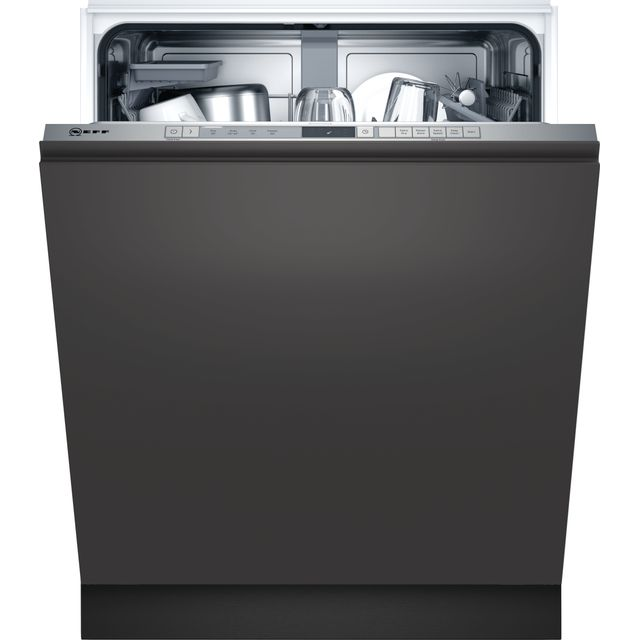 NEFF N30 S353HAX02G Fully Integrated Standard Dishwasher - Stainless Steel Control Panel - D Rated
