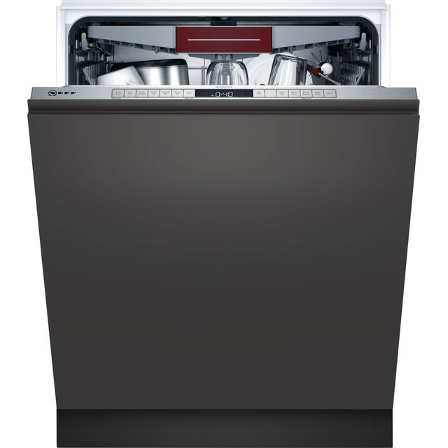 NEFF N50 S355HCX27G Fully Integrated Standard Dishwasher - Stainless Steel Control Panel - D Rated