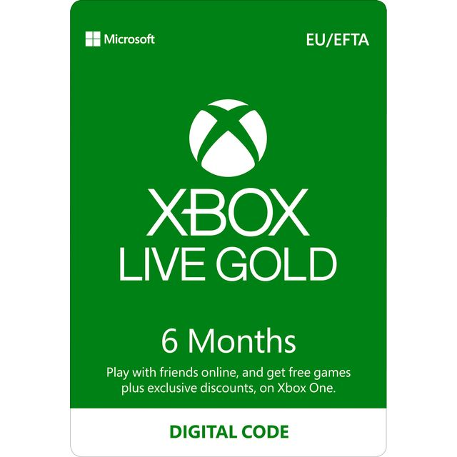 Xbox One 6 Month Xbox Live Gold Membership – Digital Code