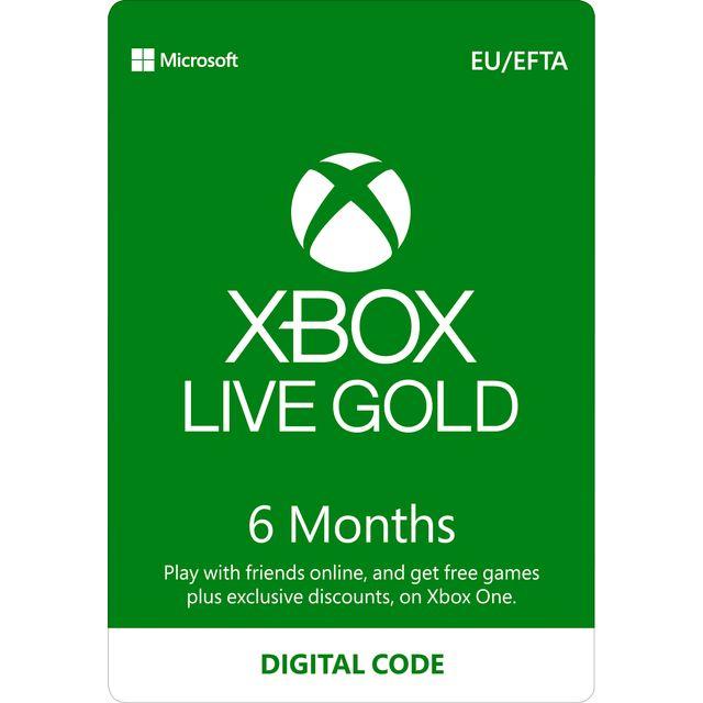 6 Months Xbox Live Gold Membership