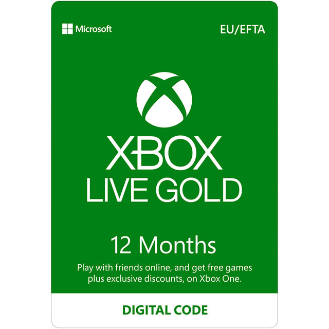 12 Months Xbox Live Gold Membership
