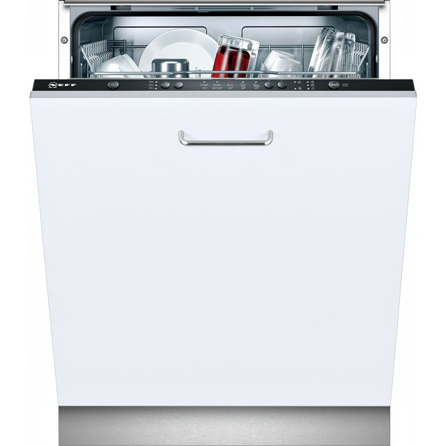 NEFF N30 S511A50X0G Fully Integrated Standard Dishwasher - Black Control Panel with Fixed Door Fixing Kit - A+ Rated - S511A50X0G_BK - 1