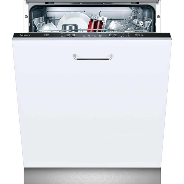 NEFF N30 S511A50X1G Fully Integrated Standard Dishwasher - Black Control Panel with Fixed Door Fixing Kit - A+ Rated - S511A50X1G_BK - 1