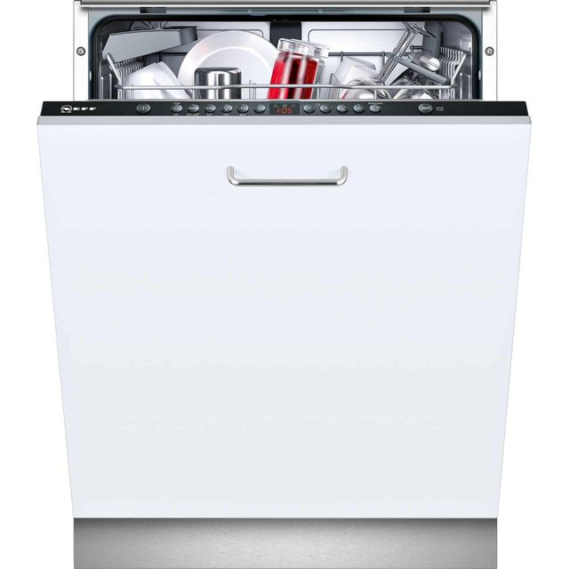 NEFF N50 S513G60X0G Fully Integrated Standard Dishwasher - Black Control Panel with Fixed Door Fixing Kit - A++ Rated - S513G60X0G_BK - 1