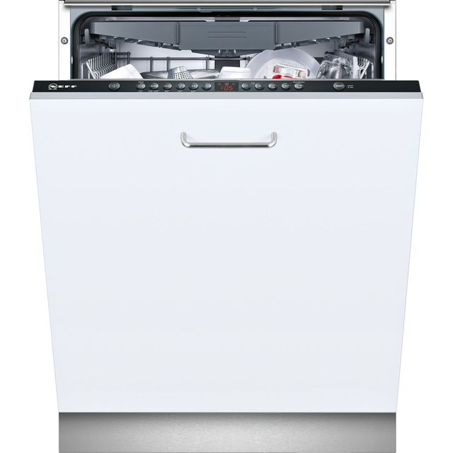 NEFF N50 S513K60X1G Fully Integrated Standard Dishwasher - Black Control Panel with Fixed Door Fixing Kit - A++ Rated - S513K60X1G_BK - 1