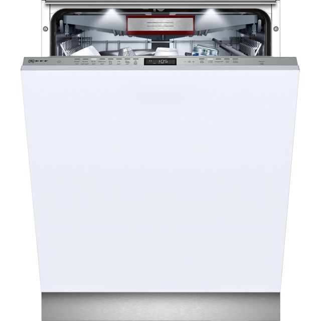 NEFF N70 Fully Integrated Standard Dishwasher - Stainless Steel with Fixed Door Fixing Kit - A+ Rated