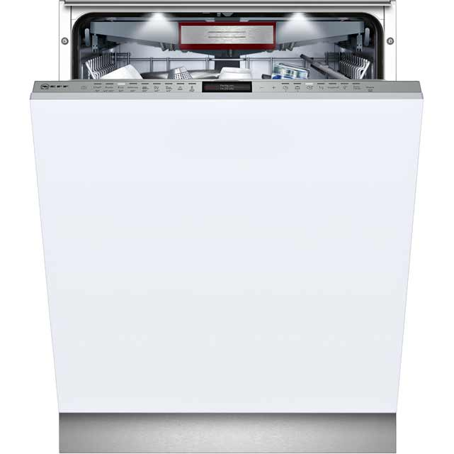 NEFF S517T80D1G Fully Integrated Standard Dishwasher - Stainless Steel Control Panel - A+++ Rated