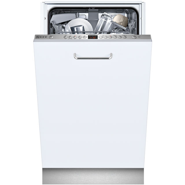NEFF N50 Fully Integrated Slimline Dishwasher - Stainless Steel Control Panel with Fixed Door Fixing Kit - A+ Rated