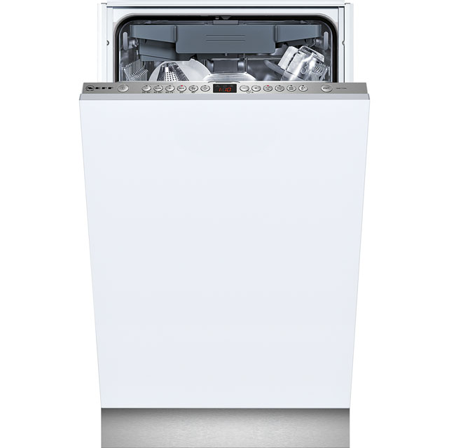 Fully integrated slimline dishwasher