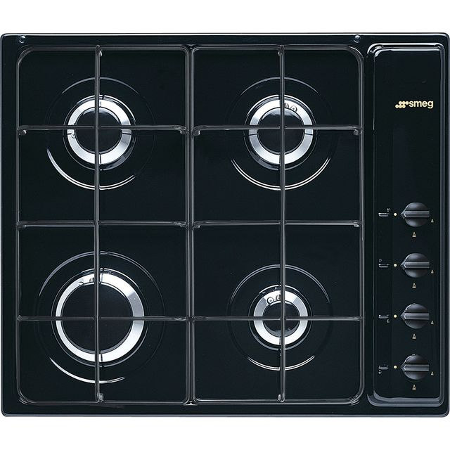 Smeg Cucina S64SN Built In Gas Hob - Black - S64SN_BK - 1
