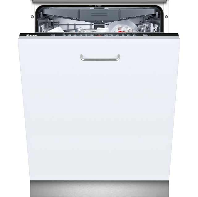 NEFF N50 Extra Height S723M60X0G Fully Integrated Standard Dishwasher - Black Control Panel - A++ Rated