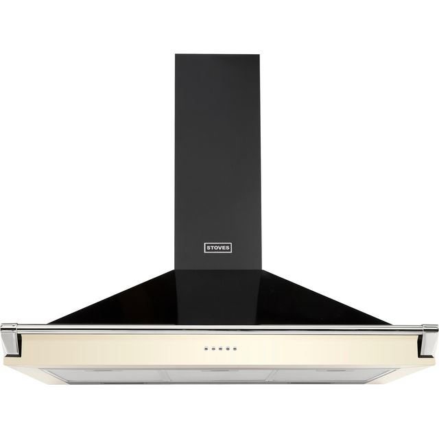 Stoves S900 RICH CHIM RAIL 90 cm Chimney Cooker Hood - Cream - A Rated - S900 RICH CHIM RAIL_CR - 1