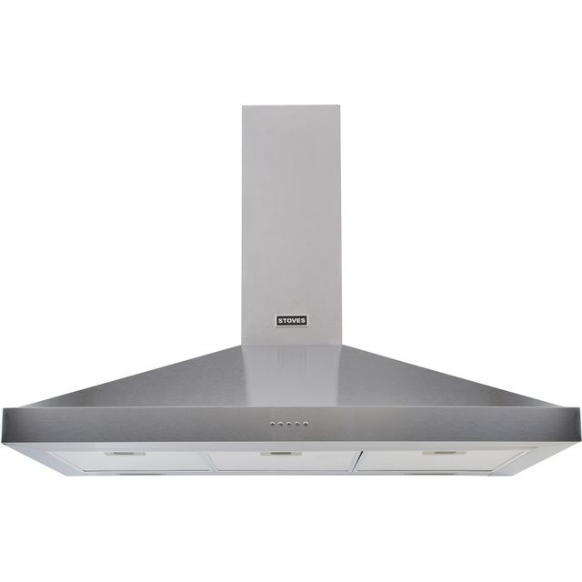 Stoves S900 STER CHIM 90 cm Chimney Cooker Hood - Stainless Steel - A Rated - S900 STER CHIM_SS - 1