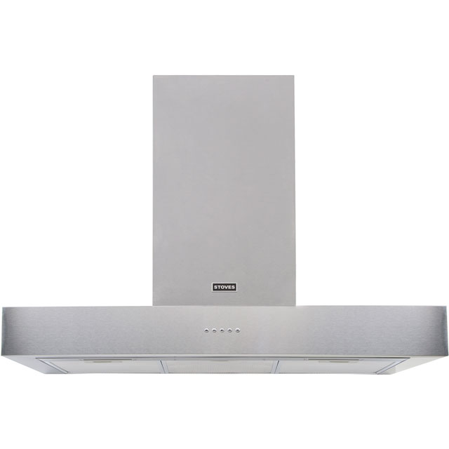 Stoves S900 STER FLAT 90 cm Chimney Cooker Hood - Stainless Steel - A Rated - S900 STER FLAT_SS - 1