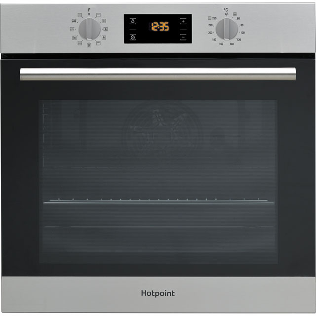 Hotpoint Class 2 SA2840PIX Built In Electric Single Oven - Stainless Steel - A+ Rated - SA2840PIX_SS - 1