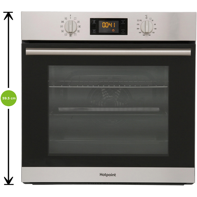 Hotpoint Class 2 SA2844HIX Built In Electric Single Oven - Stainless Steel - SA2844HIX_SS - 2