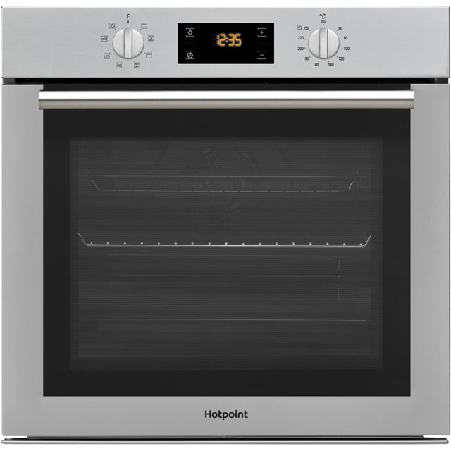 Hotpoint SA4544HIX Built In Electric Single Oven - Stainless Steel - A Rated - SA4544HIX_SS - 1