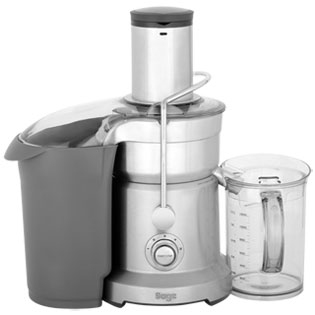 Sage By Heston Blumenthal The Nutri Juicer Pro BJE820UK Centrifugal Juicer - Brushed Steel