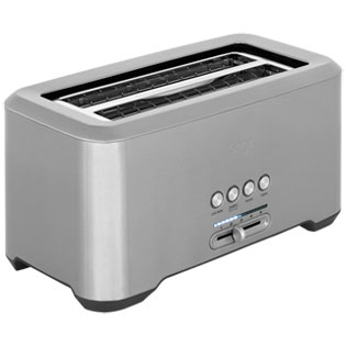 Sage The Bit More 4 Slice BTA730UK 4 Slice Toaster - Stainless Steel - BTA730UK_SS - 1
