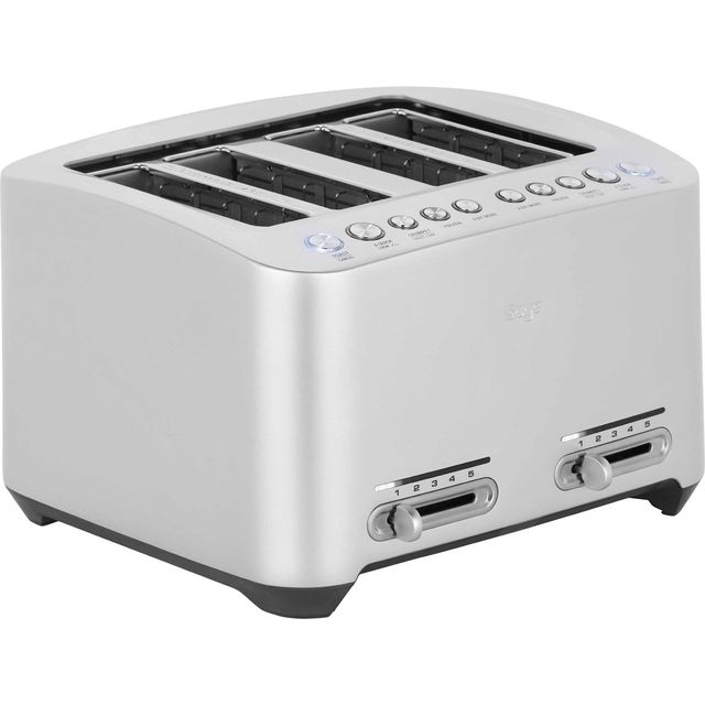 Sage The Smart Toast 4 Slice BTA845UK 4 Slice Toaster - Silver - BTA845UK_SS - 1