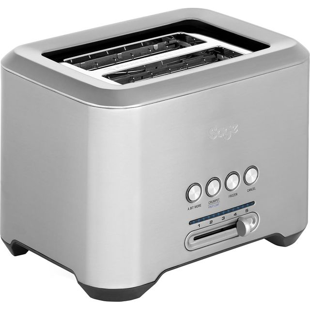 Image of Sage By Heston Blumenthal The Bit More 2 Slice BTA720UK Toaster in Stainless Steel
