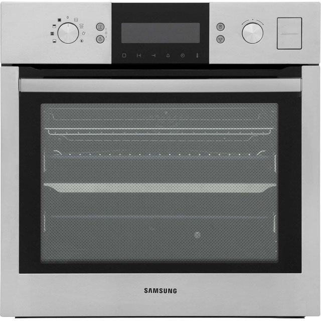 Samsung Geo Dual Cook Steam BQ1VD6T131 Built In Electric Single Oven - Stainless Steel - A Rated