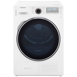 Samsung DV80H8100HW Free Standing Condenser Tumble Dryer in White