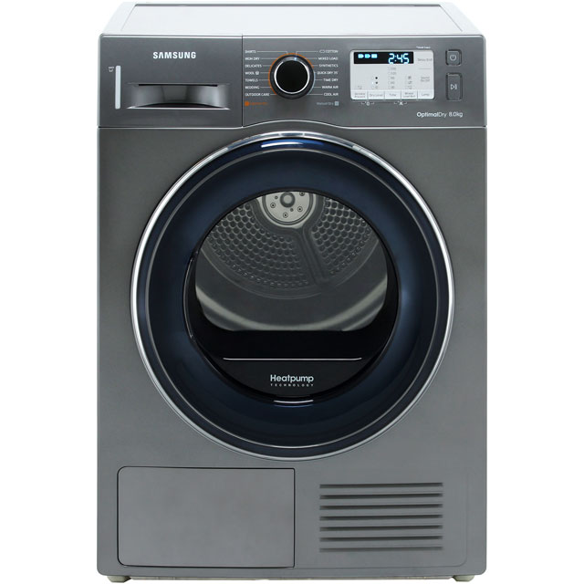 Samsung DV80M50133X Heat Pump Tumble Dryer - Graphite - DV80M50133X_GH - 1