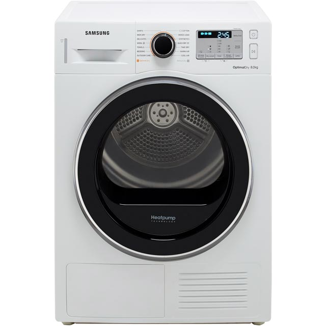Samsung DV80M5013QW Heat Pump Tumble Dryer - White - DV80M5013QW_WH - 1