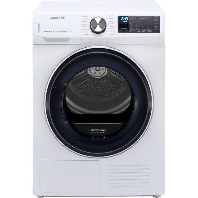 Samsung DV80N62542W Heat Pump Tumble Dryer - White - DV80N62542W_WH - 1