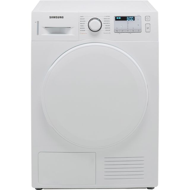 Samsung Series 5 OptimalDry� DV80TA020DW 8Kg Heat Pump Tumble Dryer - White - A++ Rated