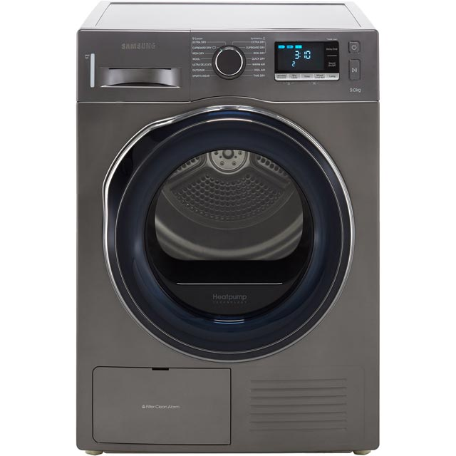 Samsung DV90K6000CX 9Kg Heat Pump Tumble Dryer - Graphite - A++ Rated at Boots Kitchen Appliances