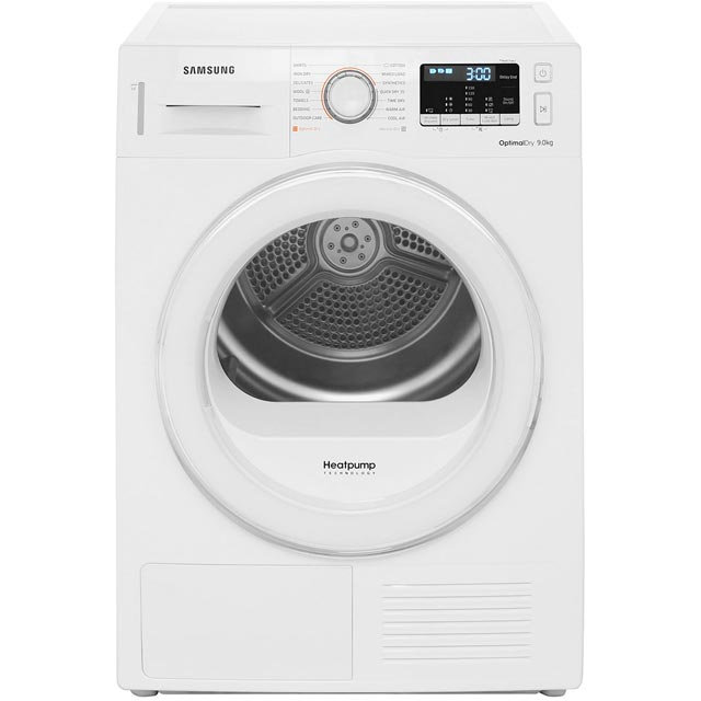 Samsung DV90M5000IW 9Kg Heat Pump Tumble Dryer - White - A++ Rated Best Price, Cheapest Prices
